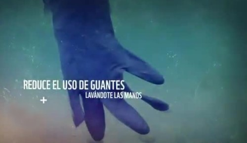 Los guantes no son necesarios y acaban en el océano